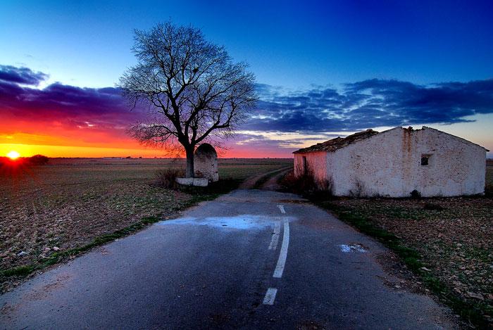 Atardecer en Tarazona de la Mancha (Spain)